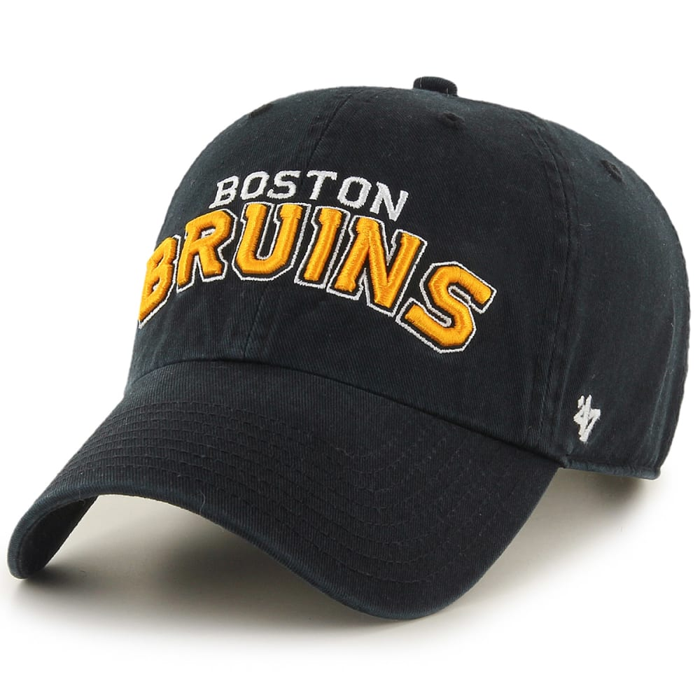 Boston Bruins Men's Wordmark '47 Clean Up Adjustable Cap