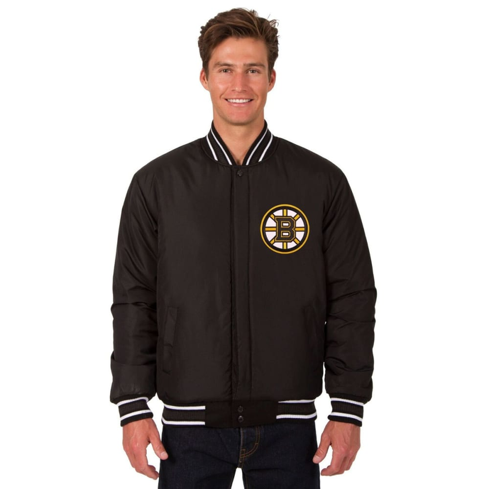 BOSTON BRUINS Men's Reversible Wool Jacket - BLACK