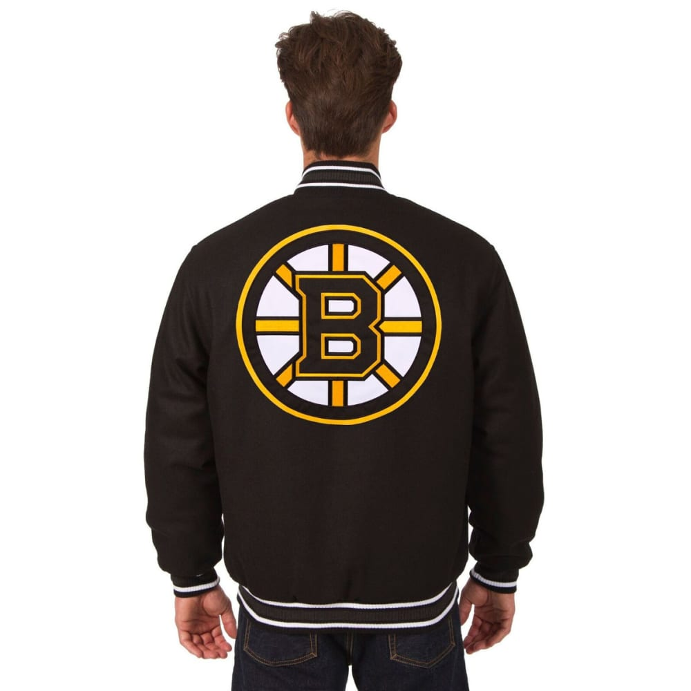BOSTON BRUINS Men's Reversible Wool Jacket - BLACK