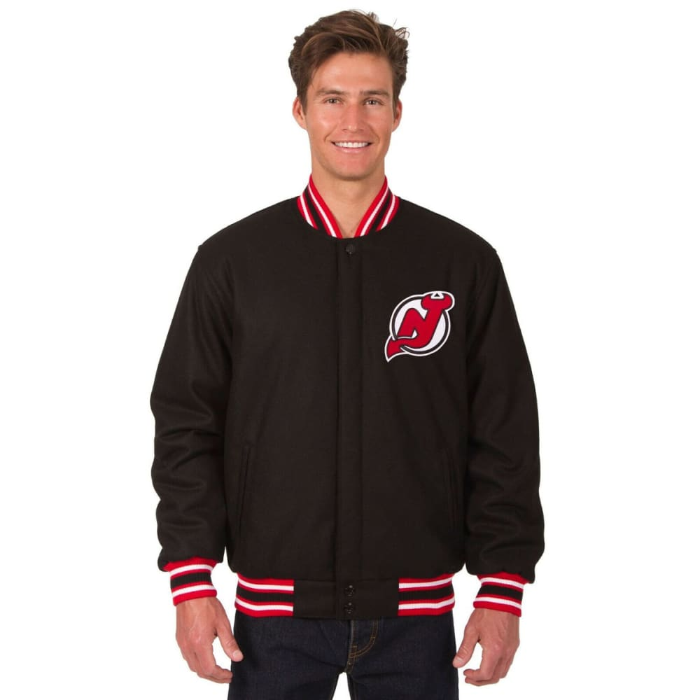 NEW JERSEY DEVILS Men's Reversible Wool Jacket - BLACK-RED