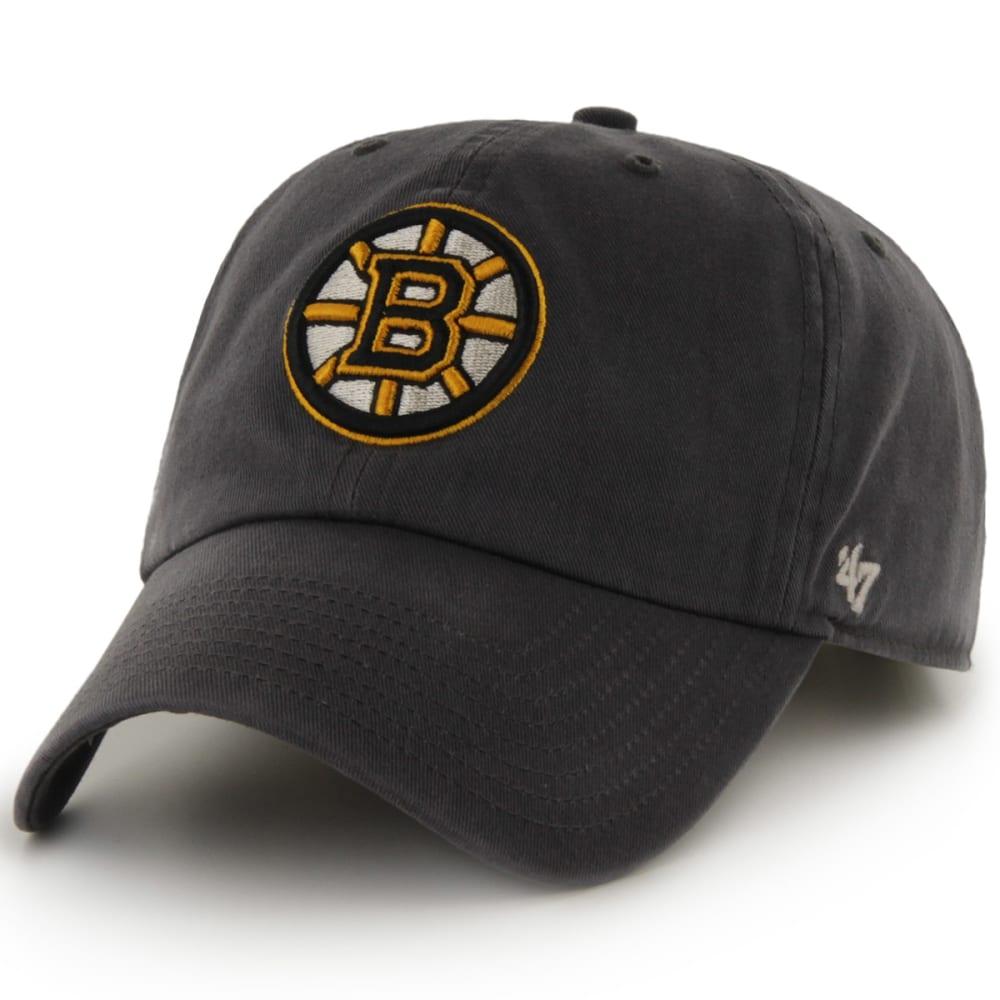 BOSTON BRUINS Men's Logo '47 Clean Up Adjustable Cap - CHARCOAL
