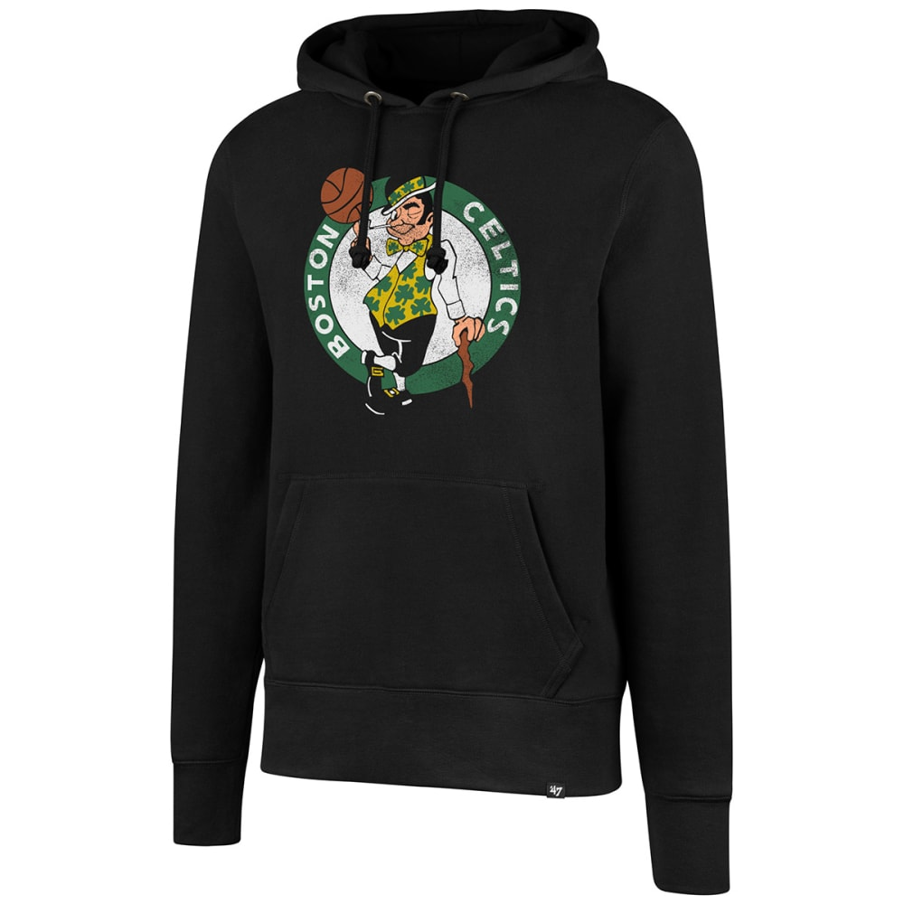 BOSTON CELTICS Men's Logo Man '47 Headline Pullover Hoodie - BLACK