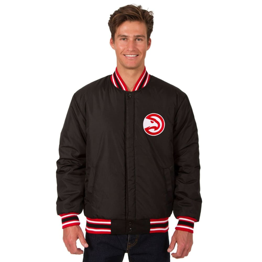 ATLANTA HAWKS Men's One Logo Reversible Wool Jacket - BLACK-RED