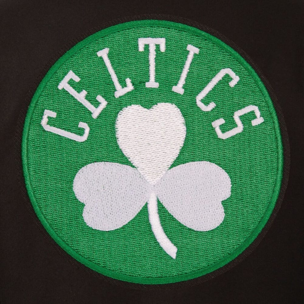 BOSTON CELTICS Men's One Logo Reversible Wool Jacket - BLACK