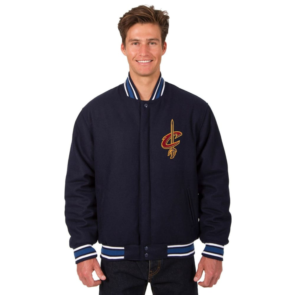 CLEVELAND CAVALIERS Men's One Logo Reversible Wool Jacket - NAVY