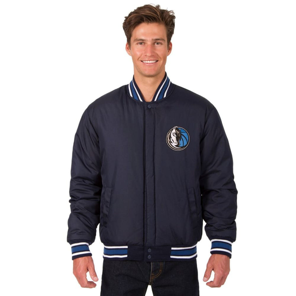 DALLAS MAVERICKS Men's One Logo Reversible Wool Jacket - NAVY