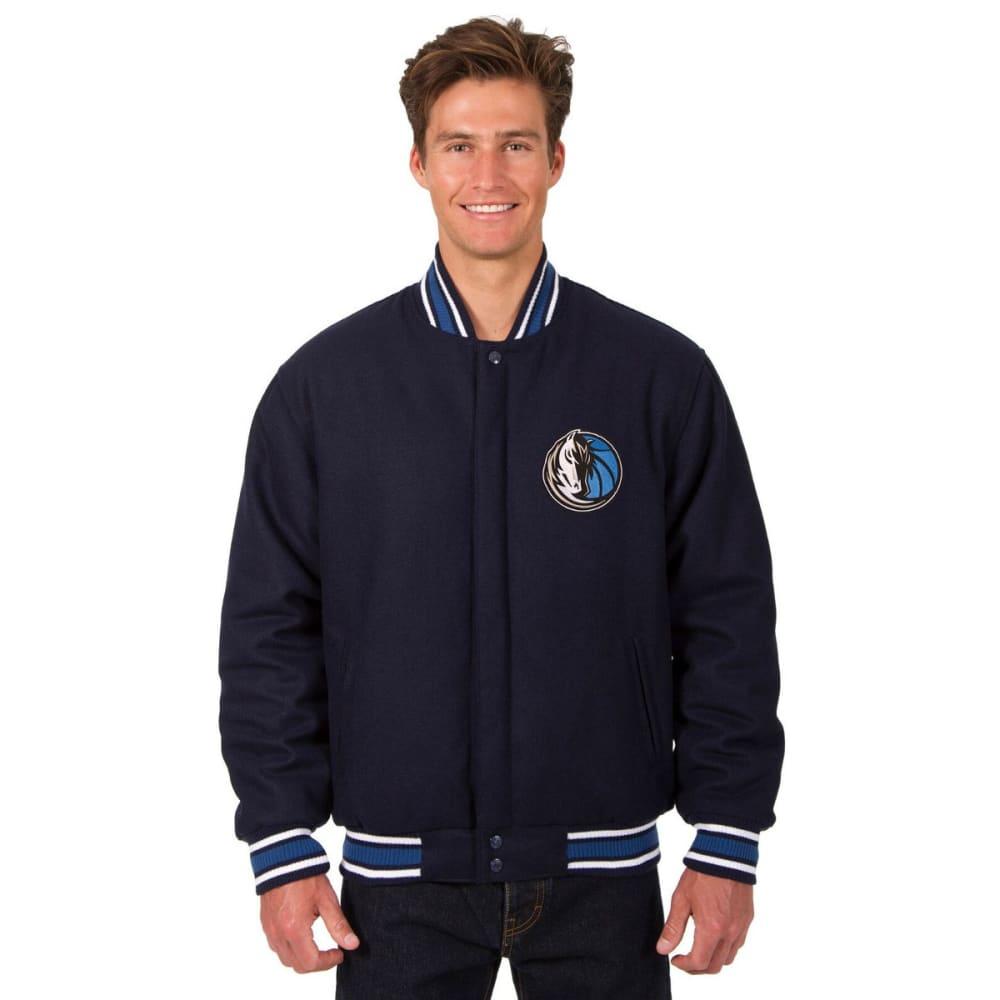 DALLAS MAVERICKS Men's One Logo Reversible Wool Jacket - NAVY