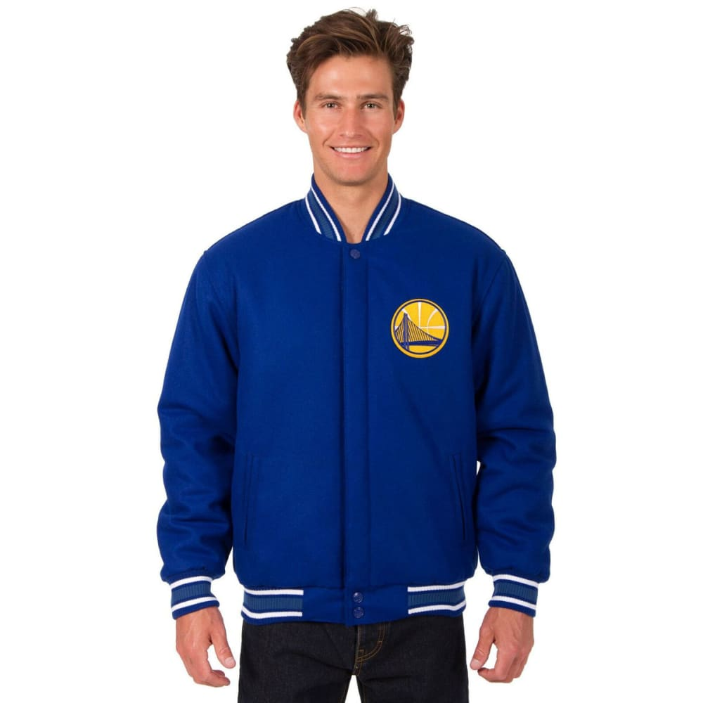 GOLDEN STATE WARRIORS Men's One Logo Reversible Wool Jacket - ROYAL