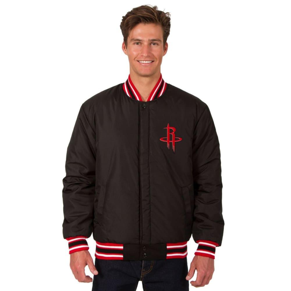 HOUSTON ROCKETS Men's One Logo Reversible Wool Jacket - BLACK-RED