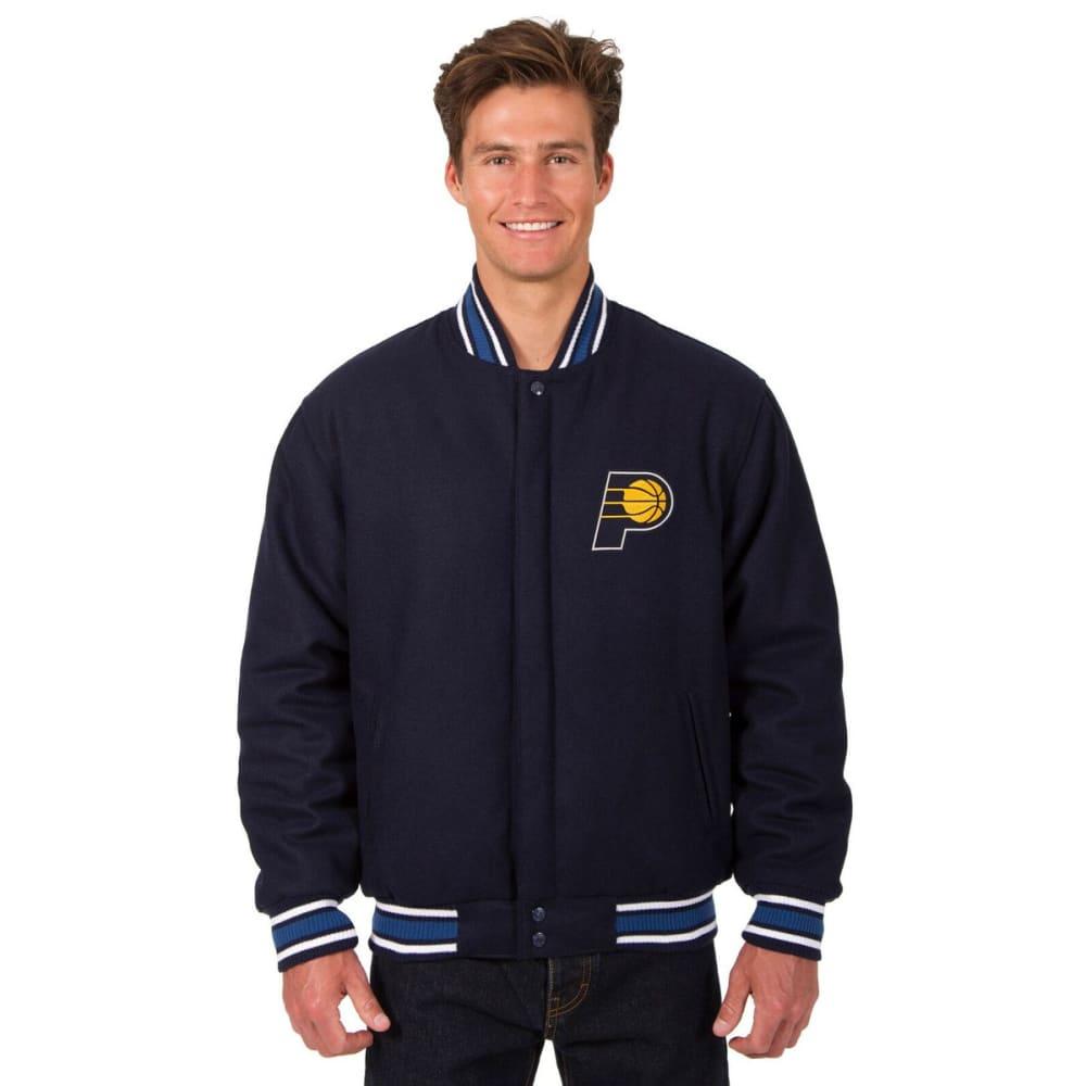INDIANA PACERS Men's One Logo Reversible Wool Jacket - NAVY
