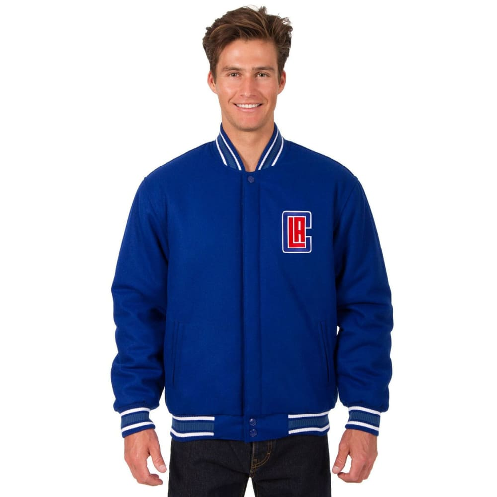 LOS ANGELES CLIPPERS Men's One Logo Reversible Wool Jacket - ROYAL