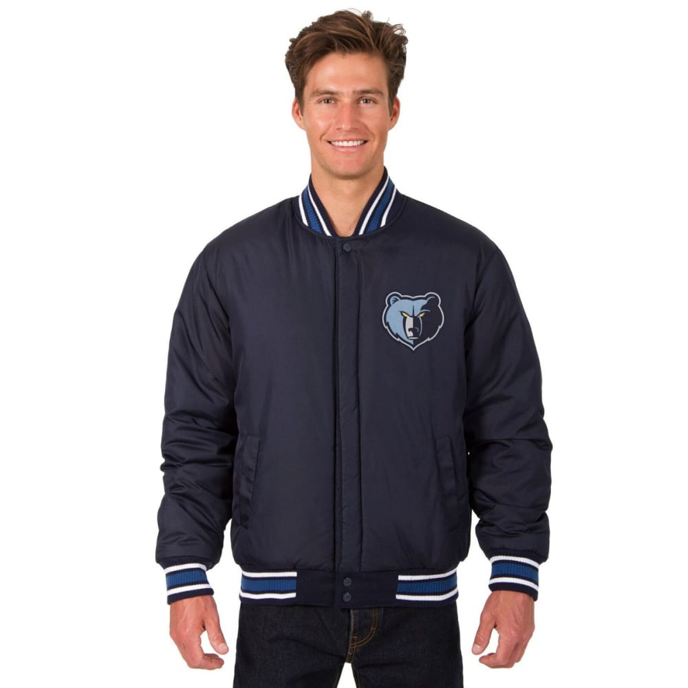 MEMPHIS GRIZZLIES Men's One Logo Reversible Wool Jacket - NAVY