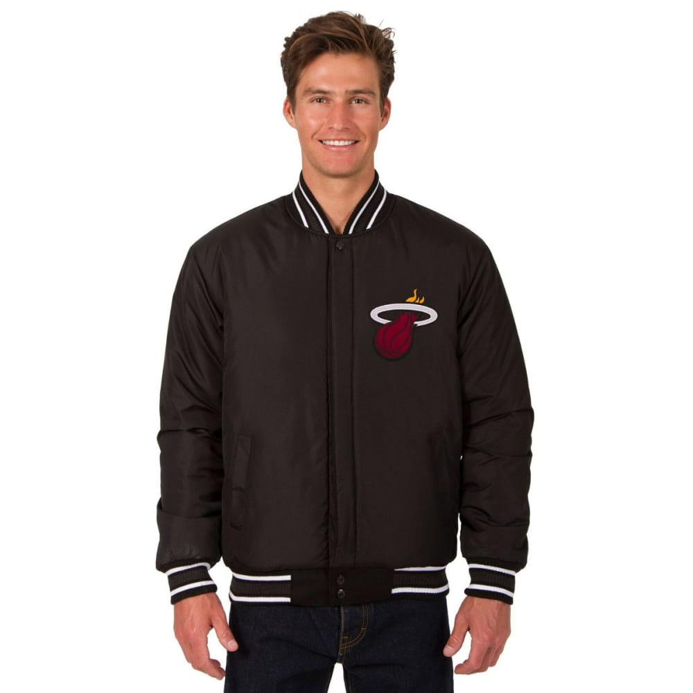 MIAMI HEAT Men's One Logo Reversible Wool Jacket - BLACK