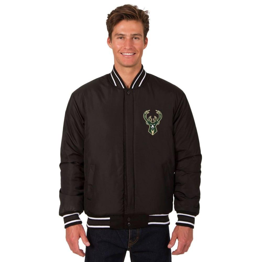 MILWAUKEE BUCKS Men's One Logo Reversible Wool Jacket - BLACK