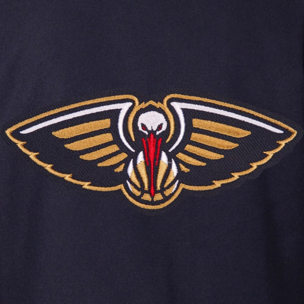 NEW ORLEANS PELICAN Men's One Logo Reversible Wool Jacket - NAVY