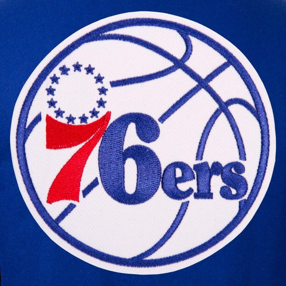 PHILADELPHIA 76ERS Men's One Logo Reversible Wool Jacket - ROYAL