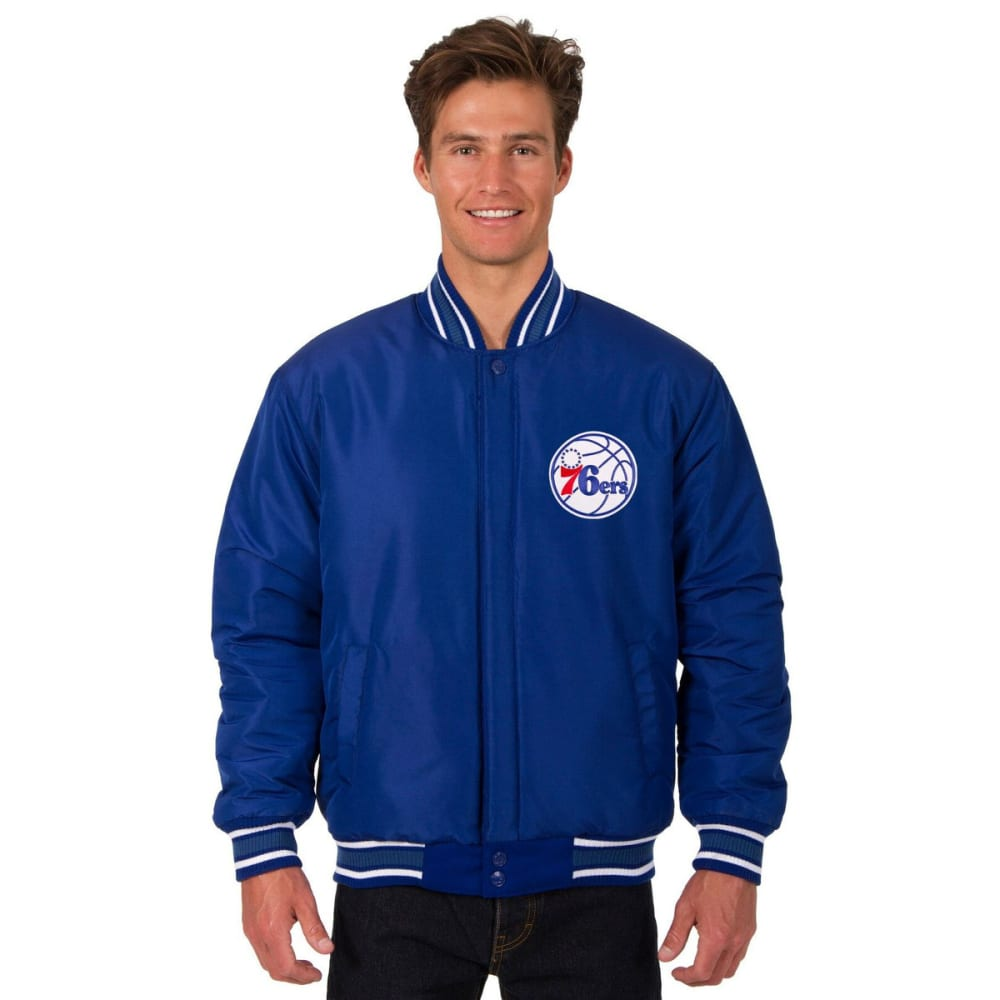 PHILADELPHIA 76ERS Men's One Logo Reversible Wool Jacket - ROYAL