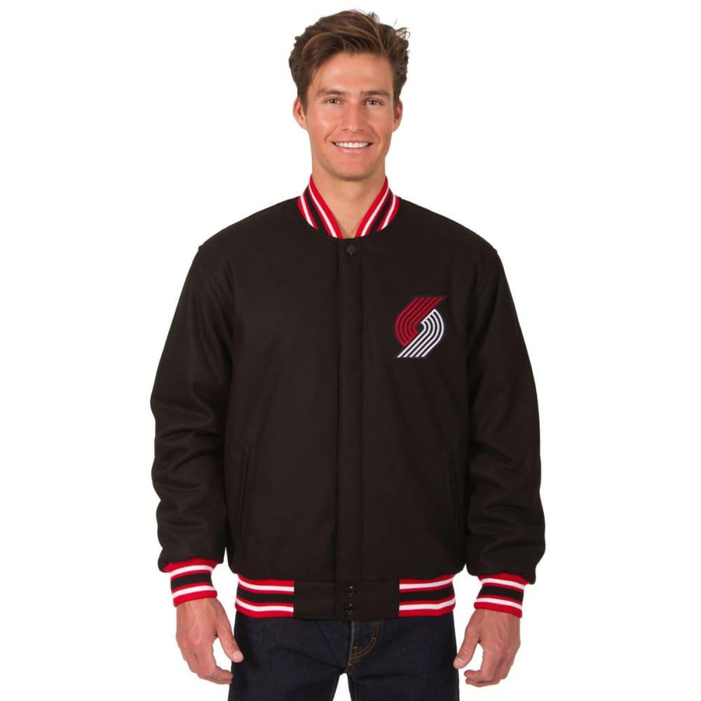 PORTLAND TRAILBLAZERS Men's One Logo Reversible Wool Jacket - BLACK-RED