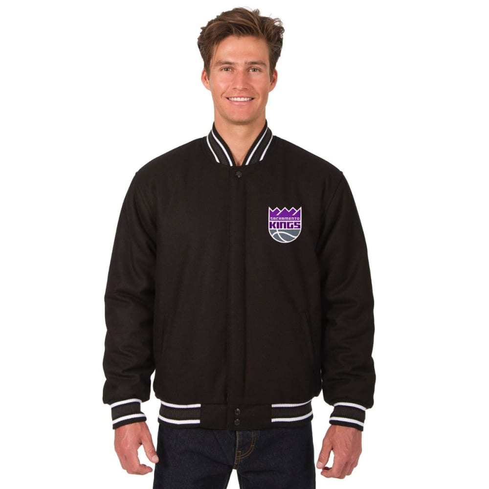 SACRAMENTO KINGS Men's One Logo Reversible Wool Jacket - BLACK