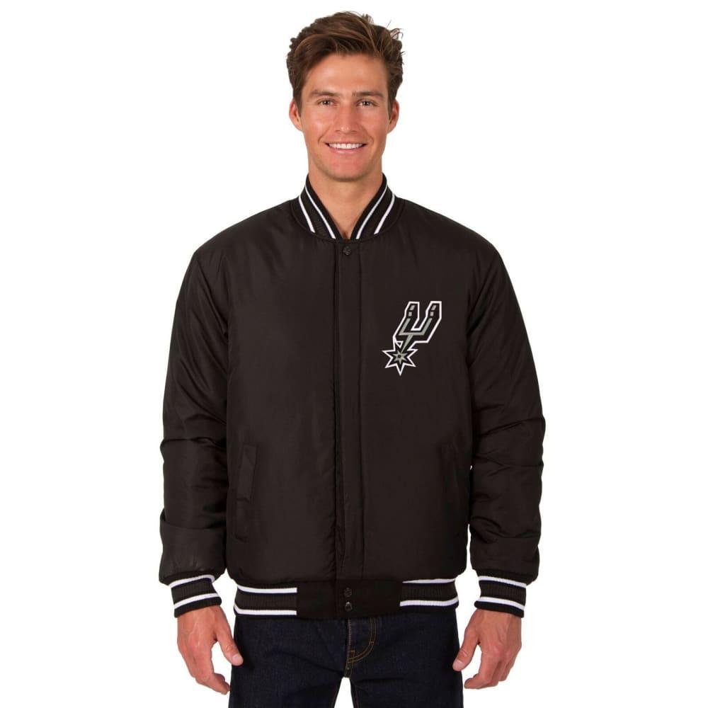SAN ANTONIO SPURS Men's One Logo Reversible Wool Jacket - BLACK