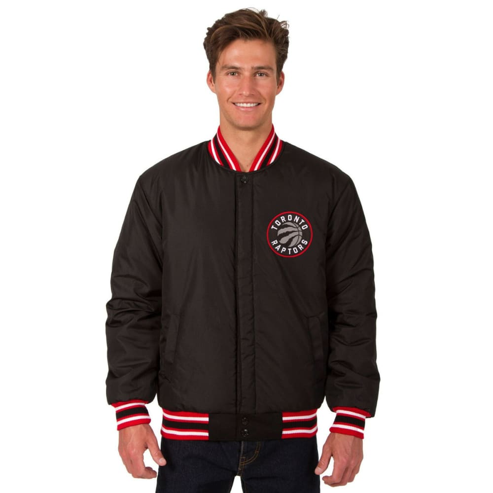 TORONTO RAPTORS Men's One Logo Reversible Wool Jacket - BLACK-RED