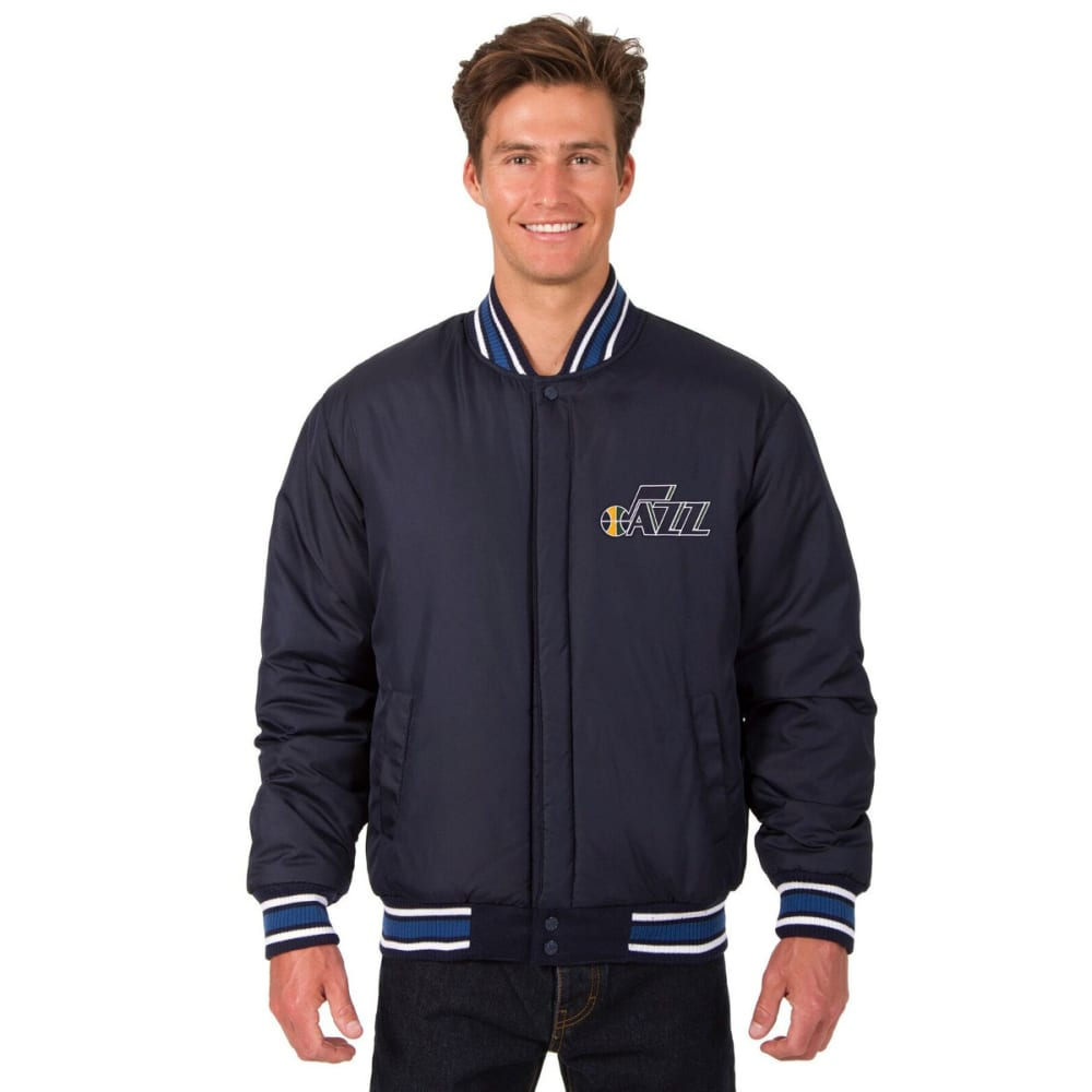 UTAH JAZZ Men's One Logo Reversible Wool Jacket - NAVY