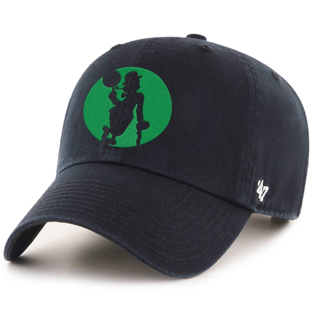BOSTON CELTICS Men's Logo Man '47 Clean Up Adjustable Cap ONE SIZE