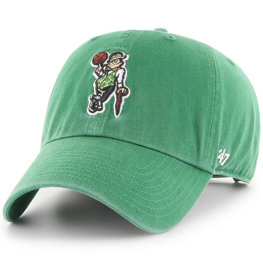 BOSTON CELTICS Men's Logo Man '47 Clean Up Adjustable Cap - GREEN