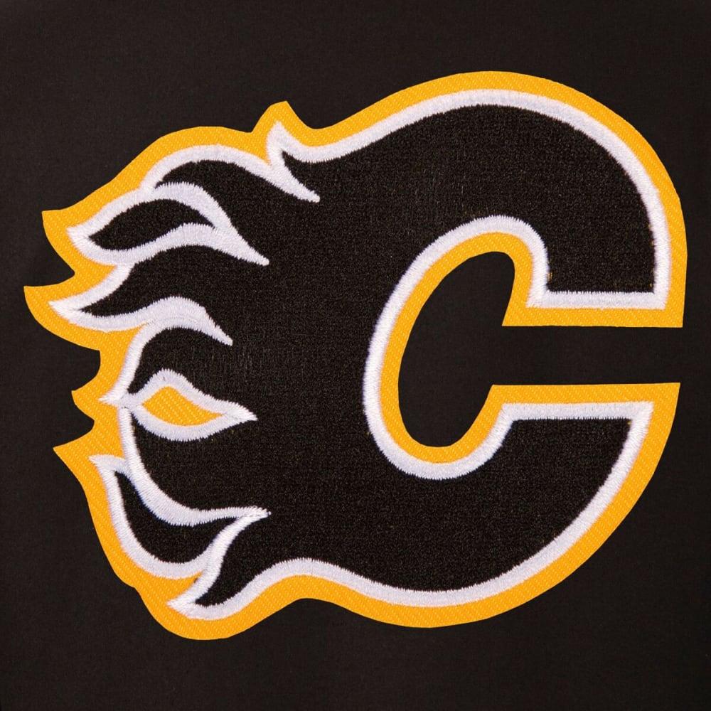 CALGARY FLAMES Men's One Logo Reversible Wool Jacket - BLACK