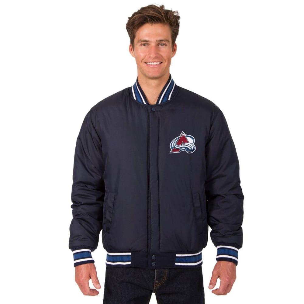COLORADO AVALANCHE Men's One Logo Reversible Wool Jacket - NAVY