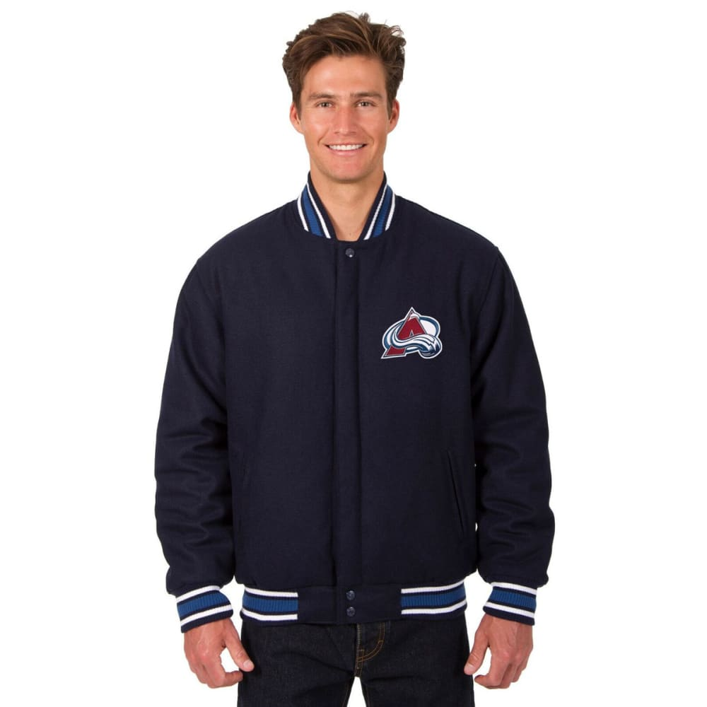 COLORADO AVALANCHE Men's One Logo Reversible Wool Jacket - NAVY
