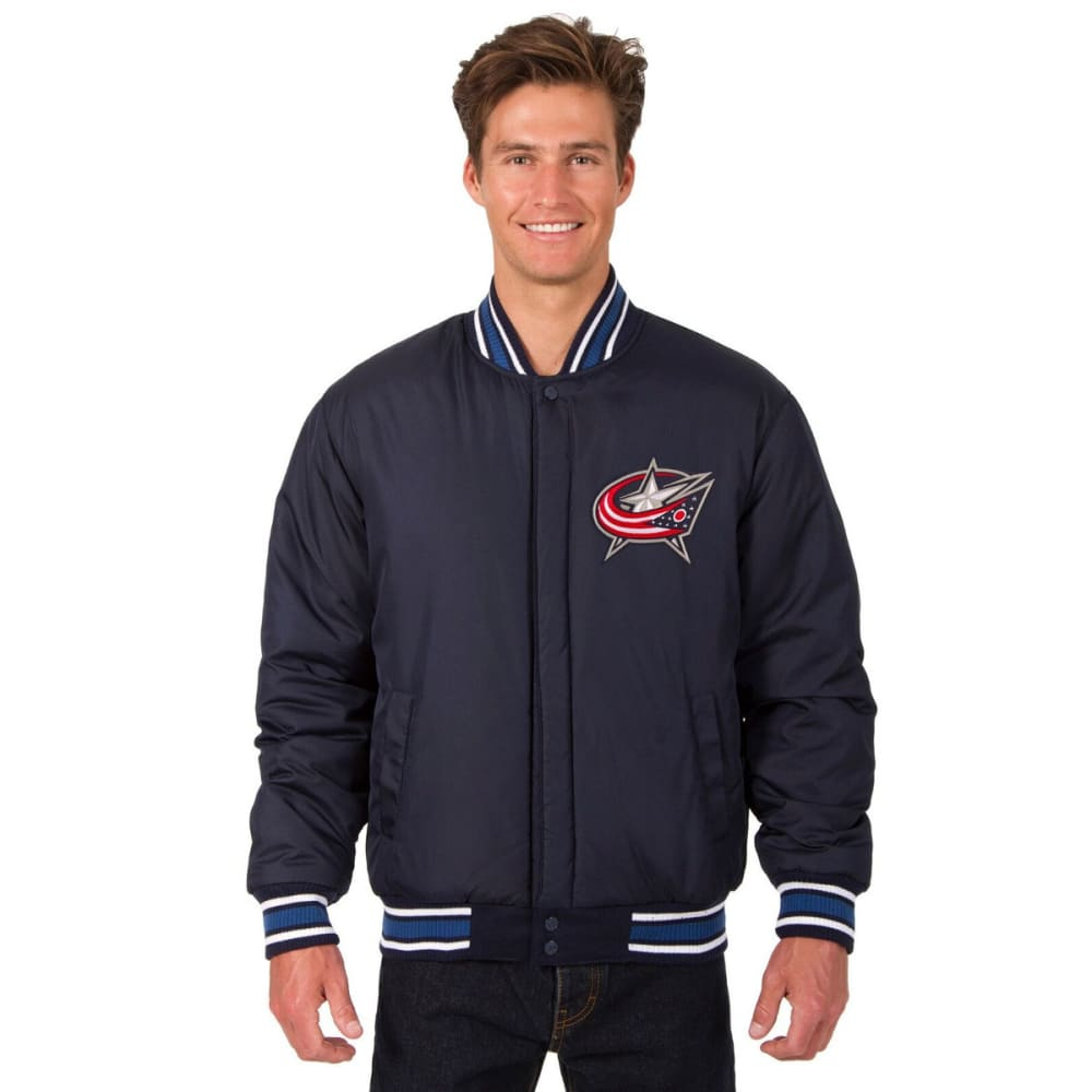 COLUMBUS BLUE JACKETS Men's One Logo Reversible Wool Jacket - NAVY
