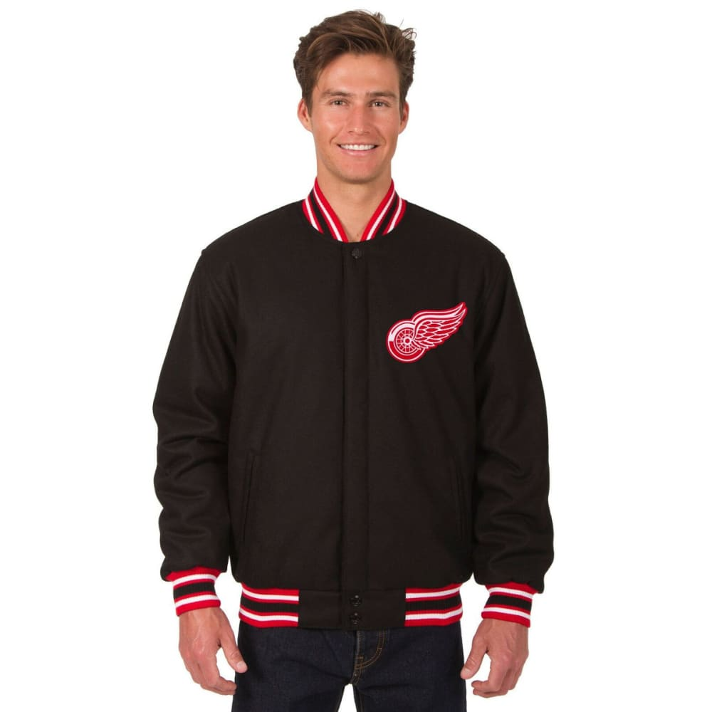 DETROIT RED WINGS Men's One Logo Reversible Wool Jacket S