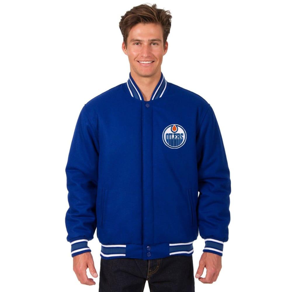 EDMONTON OILERS Men's One Logo Reversible Wool Jacket - ROYAL