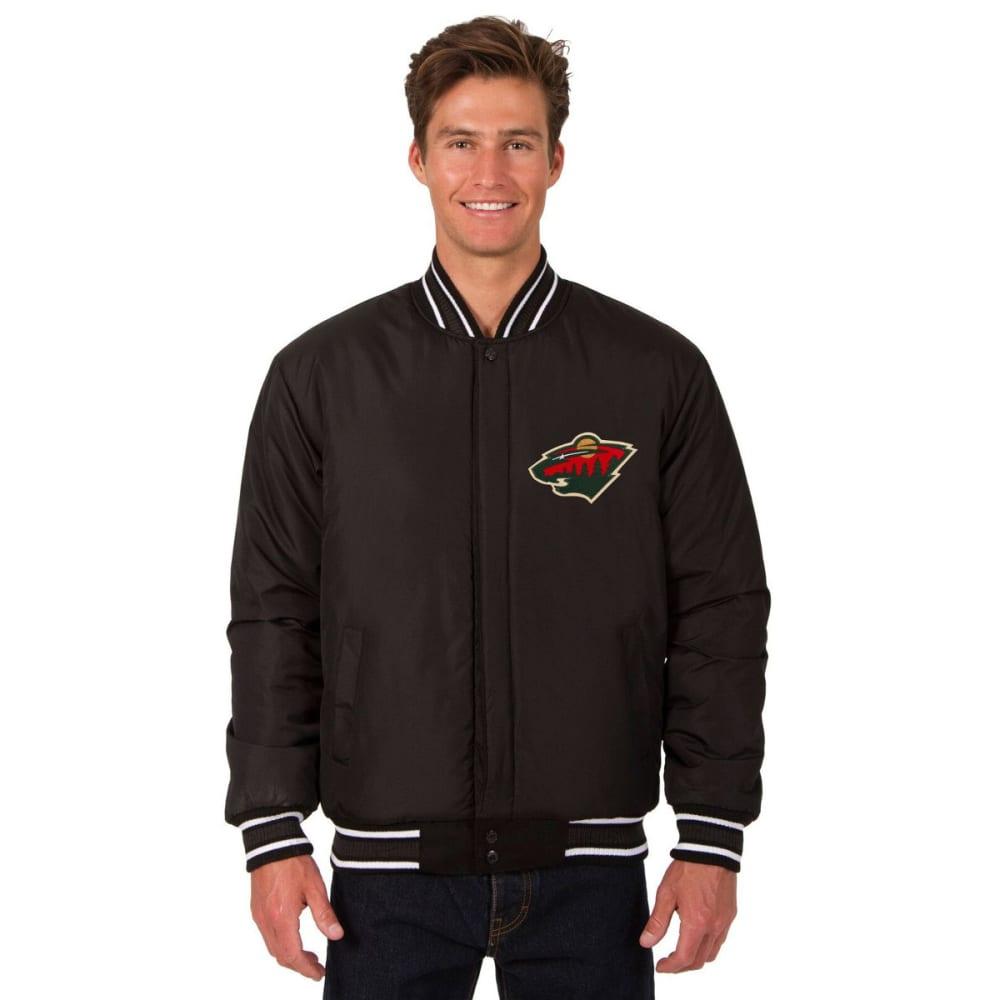 MINNESOTA WILD Men's One Logo Reversible Wool Jacket - BLACK