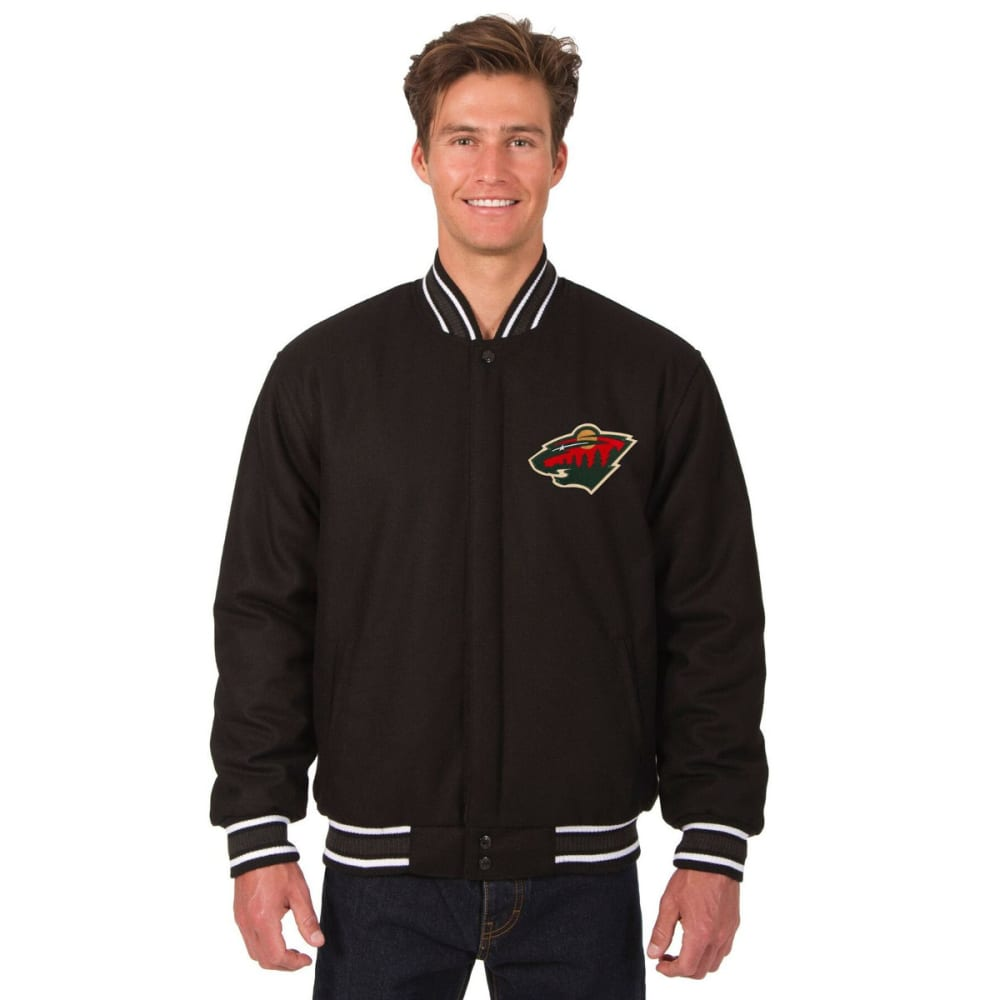 MINNESOTA WILD Men's One Logo Reversible Wool Jacket S
