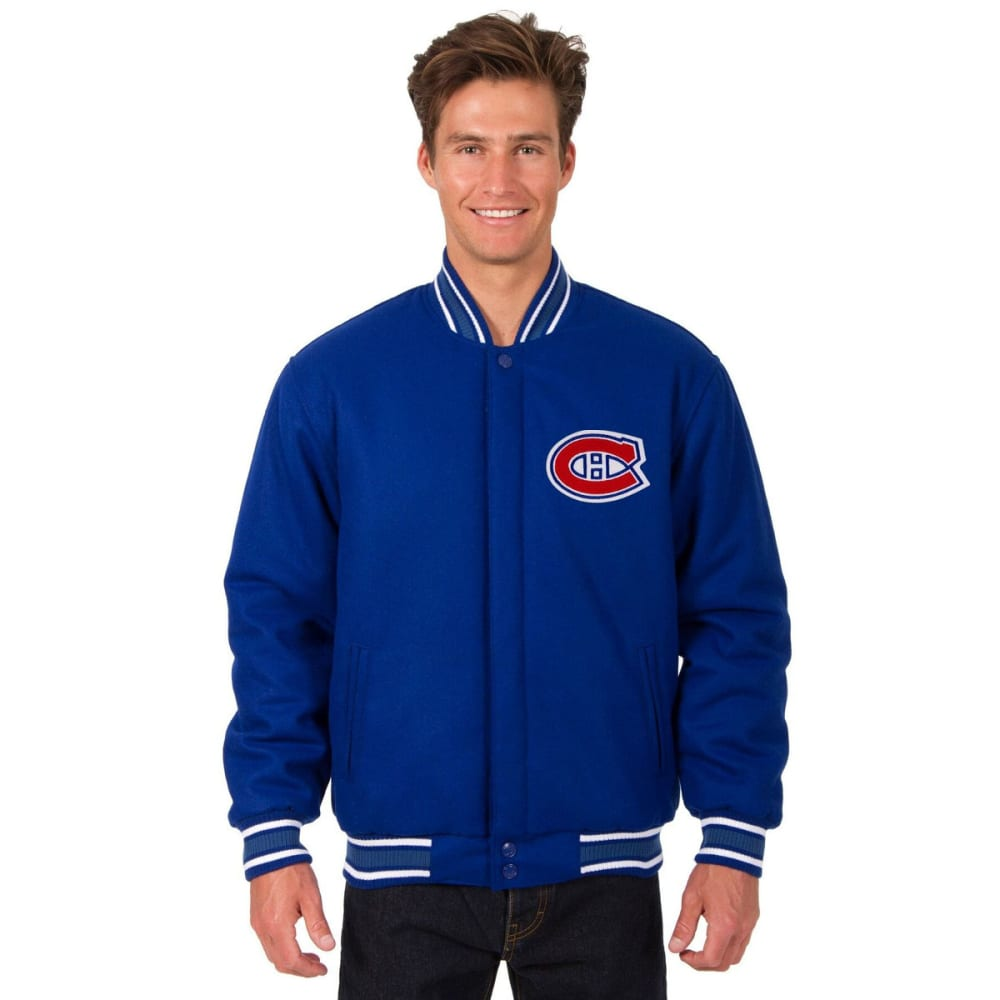 MONTREAL CANADIENS Men's One Logo Reversible Wool Jacket - ROYAL