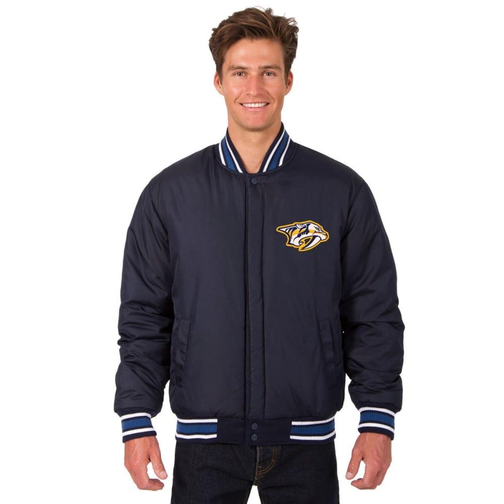 NASHVILLE PREDATORS Men's One Logo Reversible Wool Jacket - NAVY