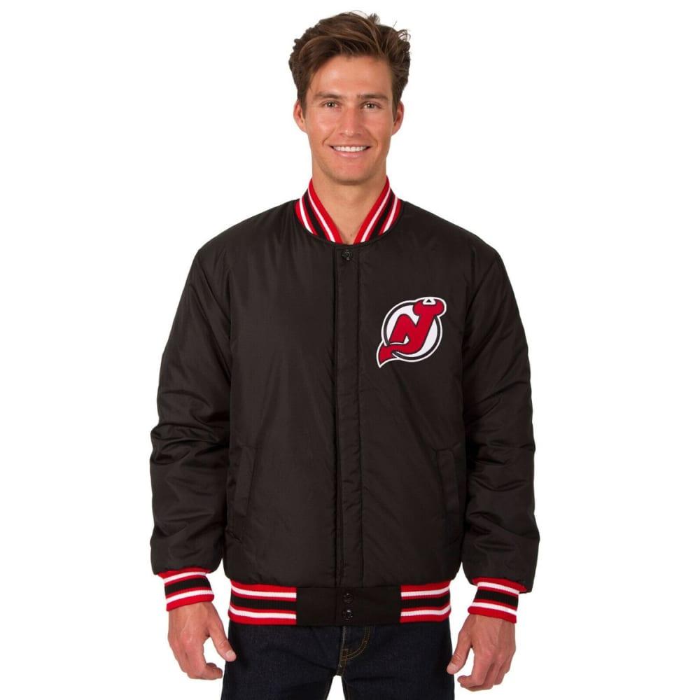 NEW JERSEY DEVILS Men's One Logo Reversible Wool Jacket - BLACK-RED