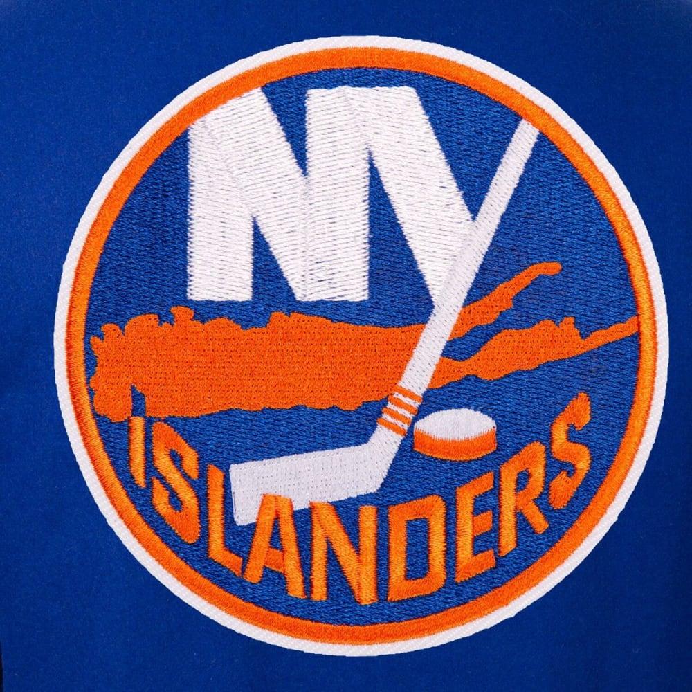 NEW YORK ISLANDERS Men's One Logo Reversible Wool Jacket - ROYAL