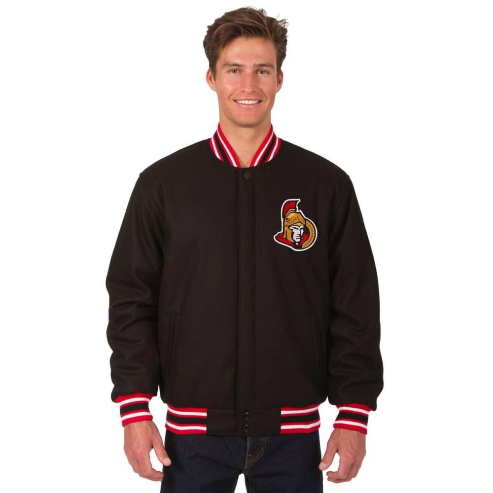 OTTAWA SENATORS Men's One Logo Reversible Wool Jacket - BLACK-RED