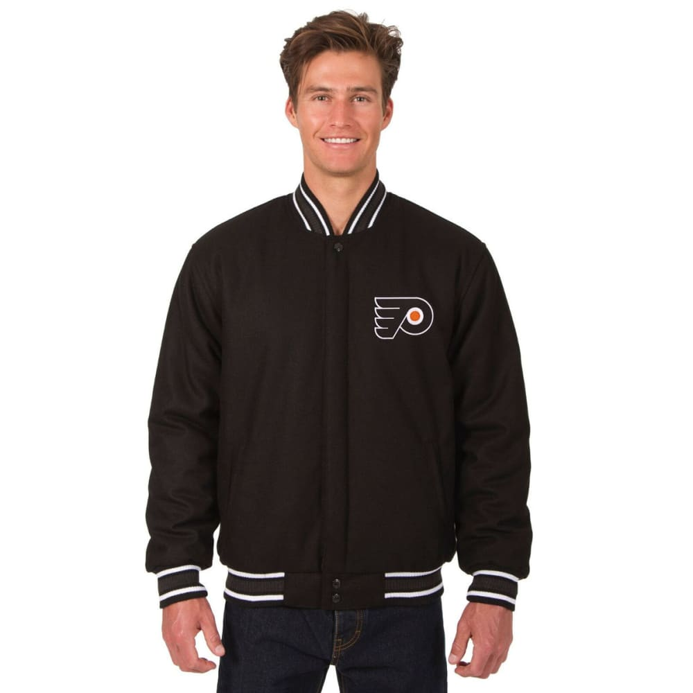 PHILADELPHIA FLYERS Men's One Logo Reversible Wool Jacket - BLACK