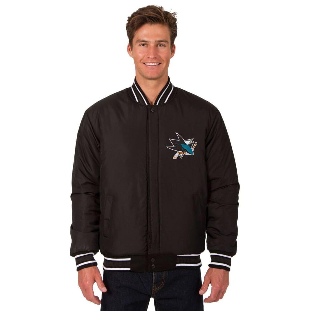 SAN JOSE SHARKS Men's One Logo Reversible Wool Jacket - BLACK