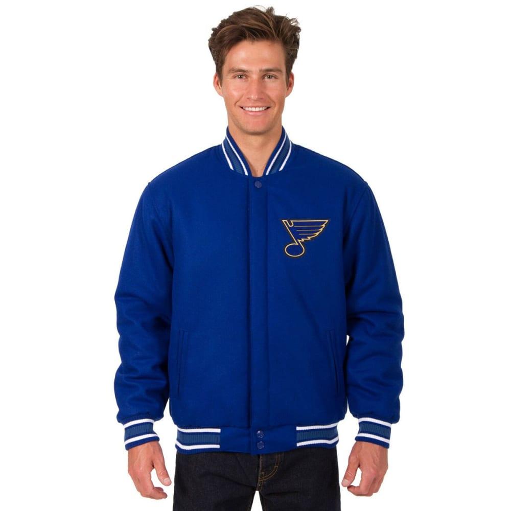 ST. LOUIS BLUES Men's One Logo Reversible Wool Jacket - ROYAL