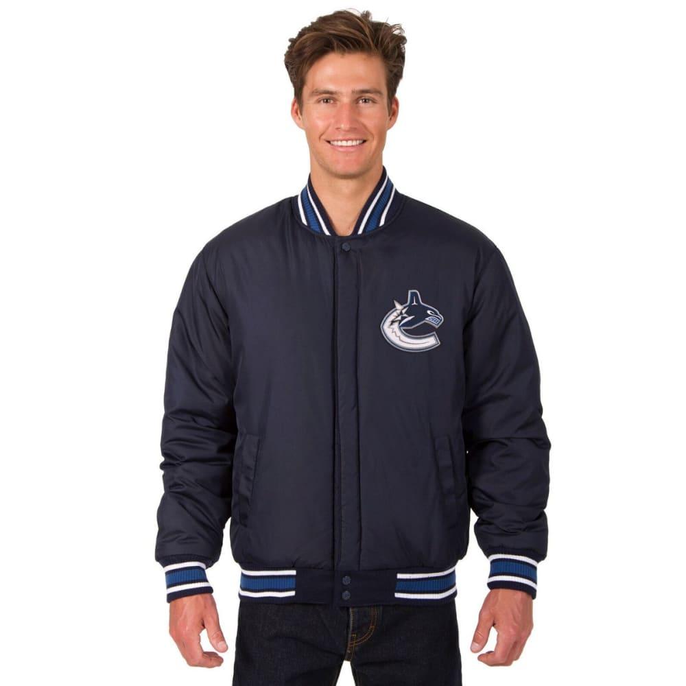 VANCOUVER CANUCKS Men's One Logo Reversible Wool Jacket - NAVY