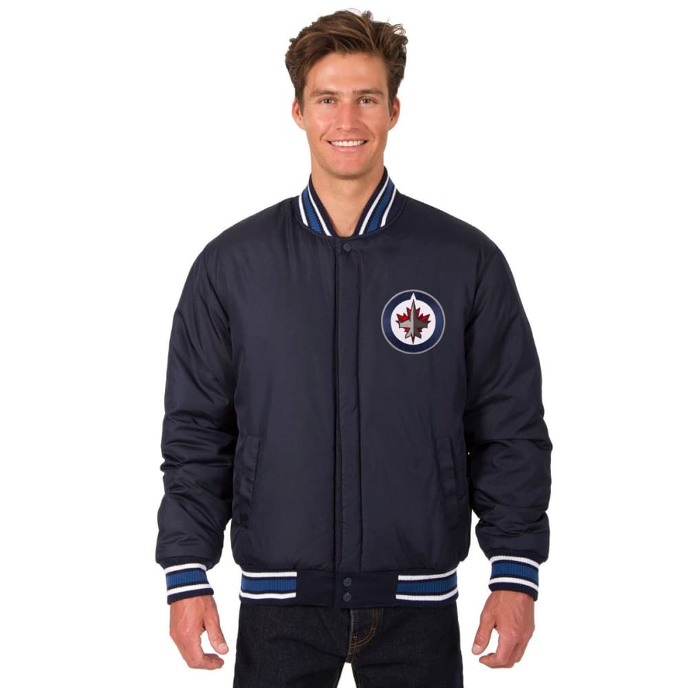 WINNIPEG JETS Men's One Logo Reversible Wool Jacket - NAVY