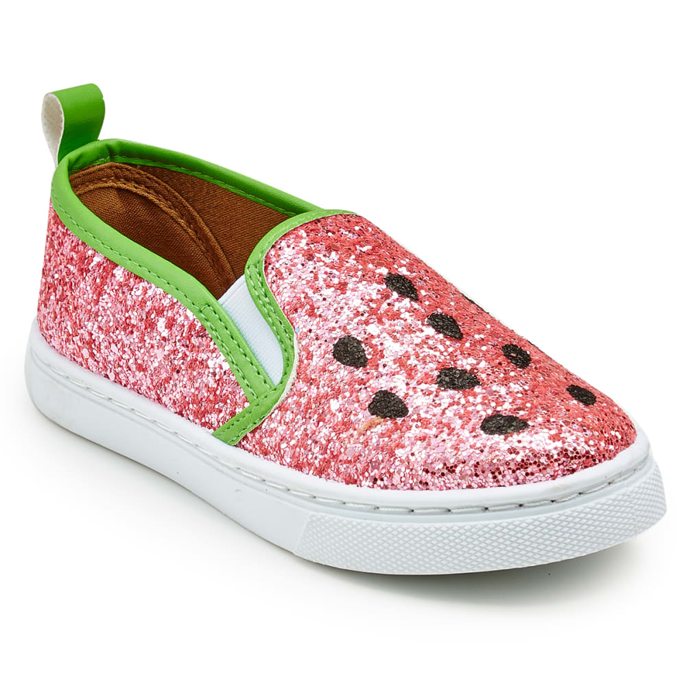 OLIVIA MILLER Girls' Watermelon Casual Slip-On Shoes - WATERMELON