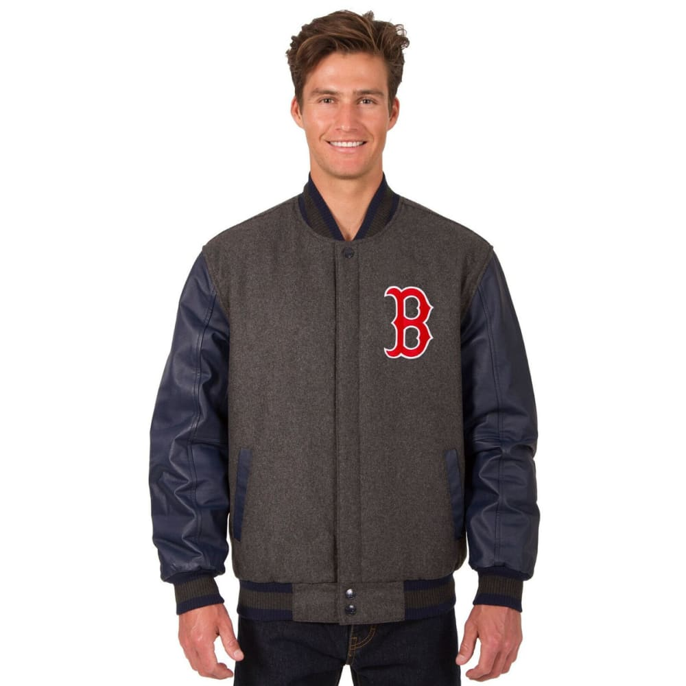 BOSTON RED SOX Men's Wool and Leather Reversible One Logo Jacket S