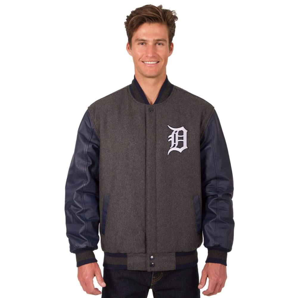 DETROIT TIGERS Men's Wool and Leather Reversible One Logo Jacket S
