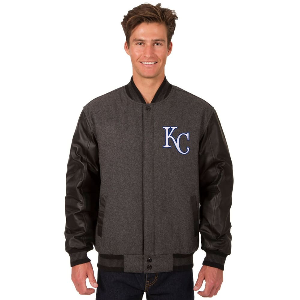 KANSAS CITY ROYALS Men's Wool and Leather Reversible One Logo Jacket S